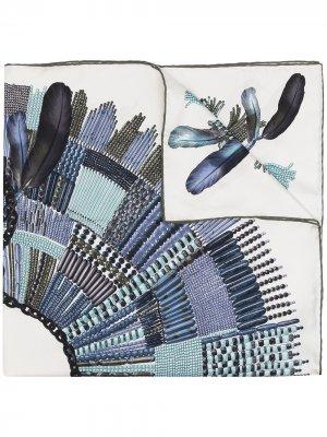 Платок с принтом Longchamp. Цвет: синий