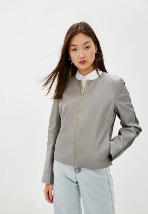 Куртка кожаная Escada Sport Lumira. Цвет: серый