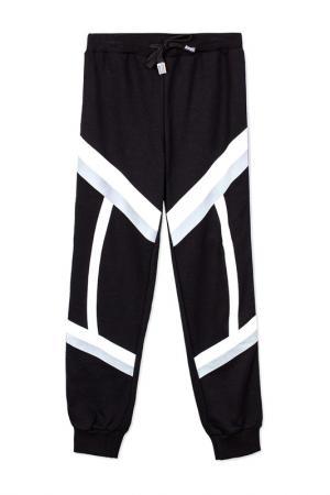Спортивные брюки PlayToday. Цвет: белый, черный