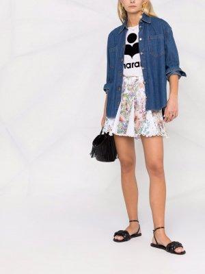 Юбка с цветочным принтом Charo Ruiz Ibiza. Цвет: белый
