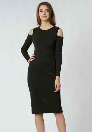Платье Evercode. Цвет: хаки