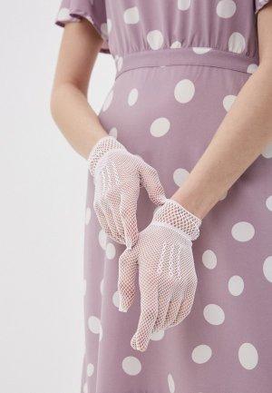 Перчатки La Cabaret. Цвет: белый
