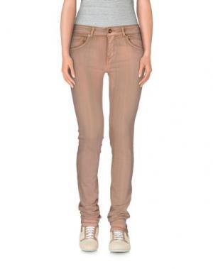 Повседневные брюки SUPERTRASH. Цвет: телесный