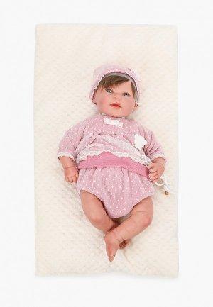 Комплект Arias ReBorns Carolina, пупс 45 см., 31х15х63 см. Цвет: розовый