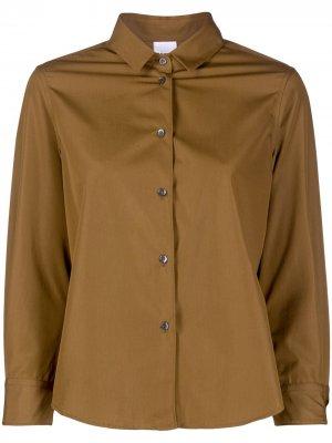 Рубашка с длинными рукавами Aspesi. Цвет: коричневый