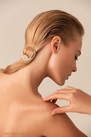 Круглая заколка для волос с декором LOVE REPUBLIC
