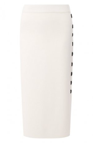 Шерстяная юбка Cruciani. Цвет: белый