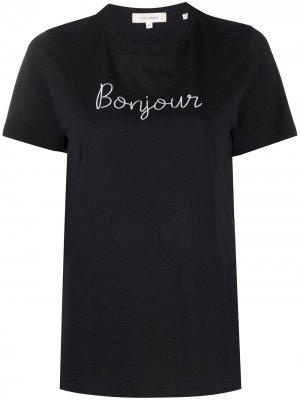 Футболка Bonjour из органического хлопка Chinti and Parker. Цвет: черный