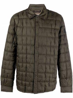 Стеганая куртка-рубашка Woolrich. Цвет: зеленый