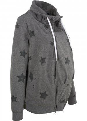 Куртка со вставкой для малыша bonprix. Цвет: серый