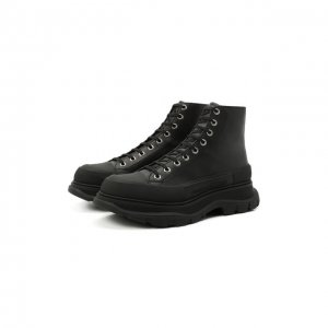 Кожаные ботинки Alexander McQueen. Цвет: чёрный