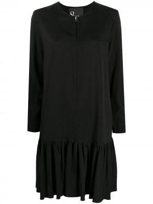 Расклешенное платье с круглым вырезом 8pm. Цвет: черный