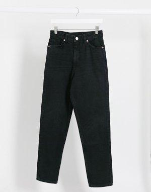 Черные джинсы в винтажном стиле из органического хлопка с завышенной талией Taiki-Черный Monki