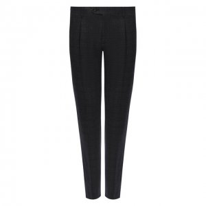 Шерстяные брюки Corneliani. Цвет: серый