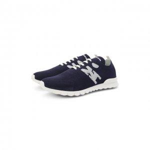 Текстильные кроссовки Kiton. Цвет: синий