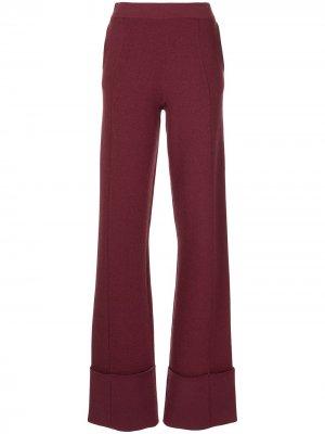 Широкие трикотажные брюки Jordan Altuzarra. Цвет: фиолетовый