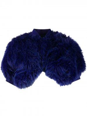 Болеро 1989-го года из искусственного меха Comme Des Garçons Pre-Owned. Цвет: синий