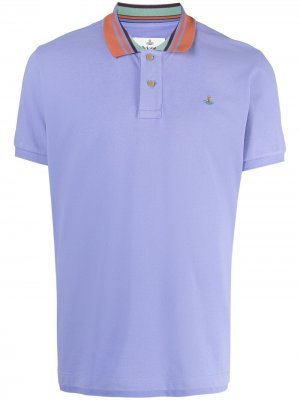 Рубашка поло с вышитым логотипом Vivienne Westwood. Цвет: фиолетовый