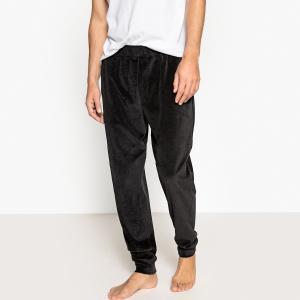 Брюки пижамные из велюра LA REDOUTE COLLECTIONS. Цвет: черный