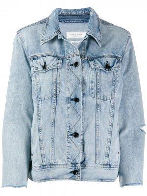 Джинсовая куртка с эффектом потертости Rag & Bone