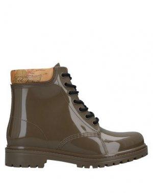 Полусапоги и высокие ботинки ALVIERO MARTINI 1a CLASSE. Цвет: хаки