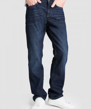 Утеплённые прямые джинсы O`Stin. Цвет: синий