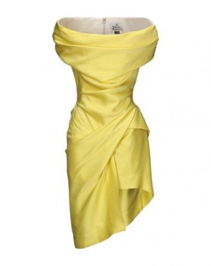 Короткое платье VIVIENNE WESTWOOD. Цвет: желтый