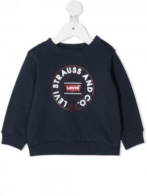 Levis Kids толстовка с логотипом Levi's. Цвет: синий
