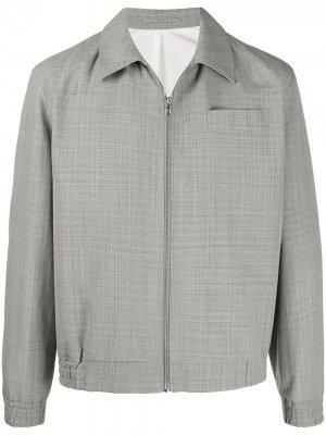 Легкая куртка в клетку Kenzo. Цвет: серый