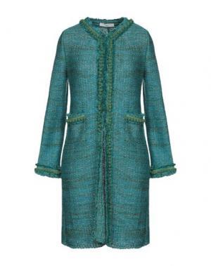 Пальто CHARLOTT. Цвет: бирюзовый