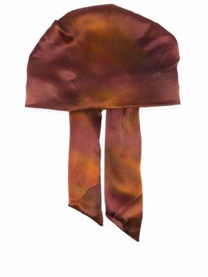 Шапка с эффектом градиента и драпировкой Eugenia Kim. Цвет: коричневый