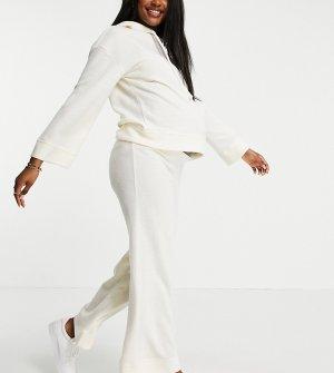 Домашние брюки кремового цвета с широкими штанинами от комплекта -Коричневый цвет Pieces Maternity
