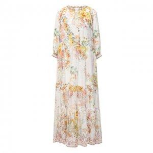 Шелковое платье Camilla. Цвет: жёлтый
