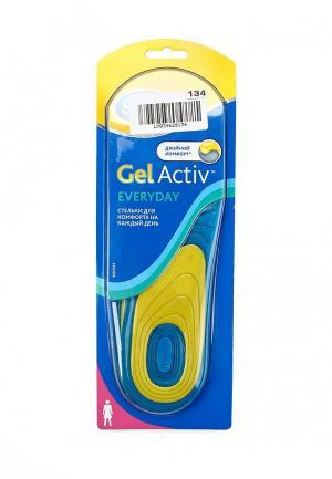 Стельки Scholl GelActiv Everyday для комфорта на каждый день женщин. Цвет: разноцветный