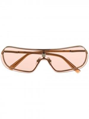 Затемненные солнцезащитные очки с металлическим логотипом Givenchy Eyewear. Цвет: золотистый