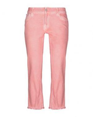 Джинсовые брюки-капри CYCLE. Цвет: лососево-розовый