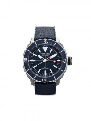 Наручные часы Seastrong Diver GMT 44 мм Alpina. Цвет: blue