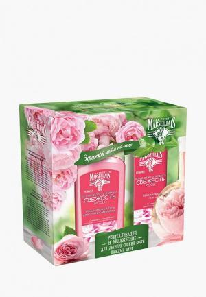 Набор для ухода за лицом Johnson & LPM Увлажняющий гель-крем лица Свежесть Розы 50 мл + Мицеллярный гель снятия макияжа 200. Цвет: прозрачный