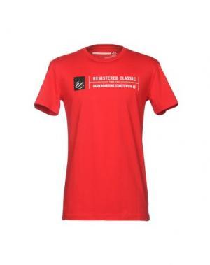 Футболка ÉS. Цвет: красный