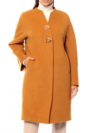 Пальто Анора. Цвет: горчичный