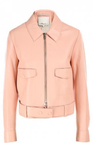 Кожаная куртка 3.1 Phillip Lim. Цвет: розовый