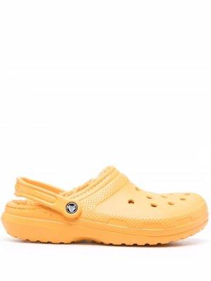 Кроксы с подкладкой Crocs. Цвет: оранжевый