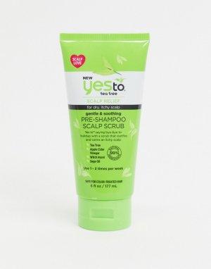 Скраб для кожи головы с успокаивающим действием Yes to Tea Tree-Бесцветный