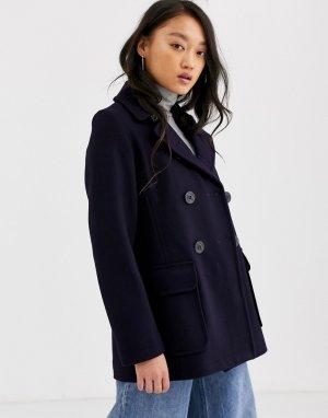 Двубортное пальто с добавлением шерсти Gloveral Gloverall