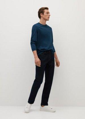 Хлопковая рубашка с длинным рукавом - Gareth Mango. Цвет: темно-синий