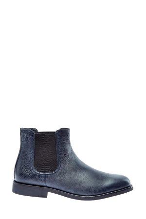 Ботинки-челси из кожи оленя на подкладке овчины MORESCHI. Цвет: синий