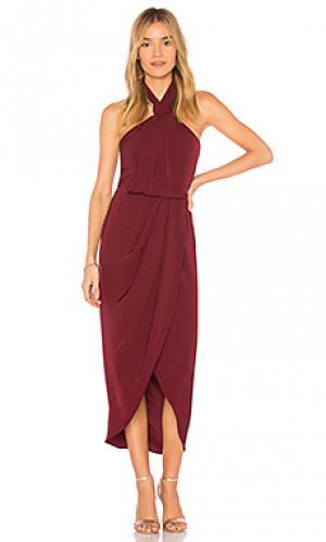 Платье миди knot draped Shona Joy. Цвет: фиолетовый