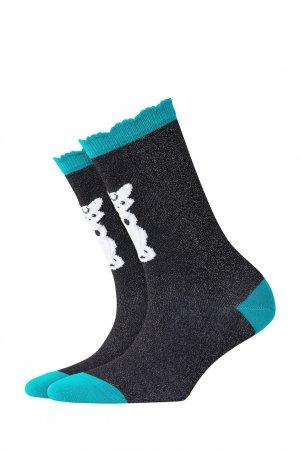 Блестящие носки Luna Cat Burlington. Цвет: черный