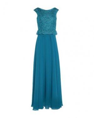 Длинное платье MIKAEL. Цвет: пастельно-синий