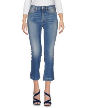 Джинсовые брюки-капри JECKERSON. Цвет: синий